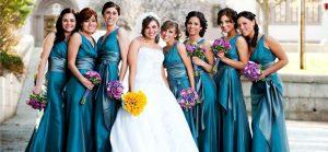Teal Bridesmaids Dress