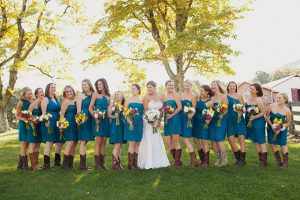 Teal Short Bridesmaid Dresses