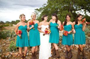 Turquoise Blue Bridesmaid Dresses