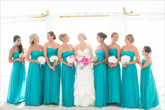 Turquoise Bridesmaid Dresses Dressed Up Girl
