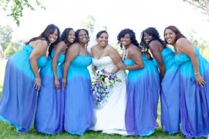Turquoise Plus Size Bridesmaid Dresses