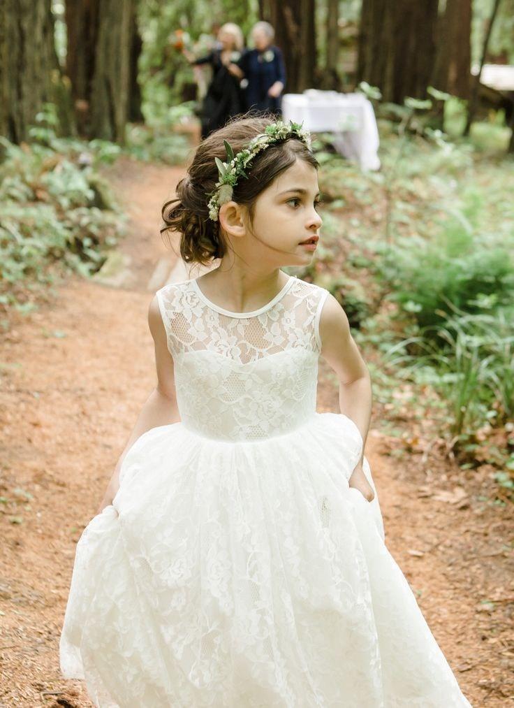 White flower girl dresses for juniors