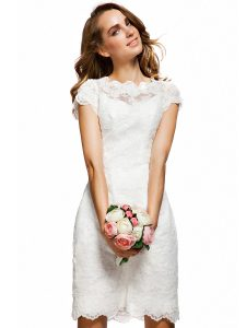 White Lace Bridesmaid Dress