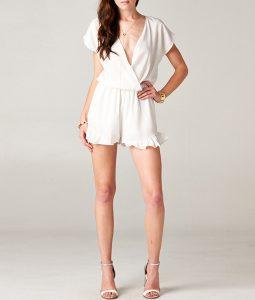White Romper Shorts