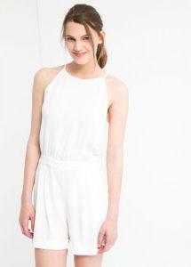 White Short Jumpsuit