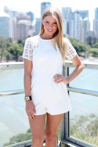 White Short Romper