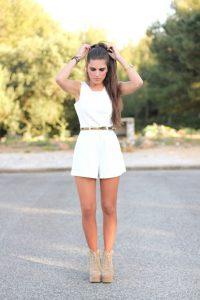 White Shorts Jumpsuit