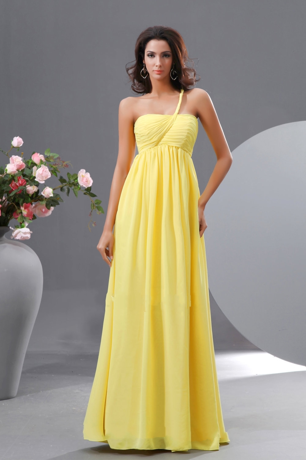 Yellow bridesmaid dresses dressed up girl