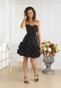 Black Bridesmaid Dresses Short