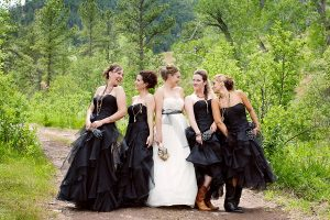 Black Vintage Bridesmaid Dresses