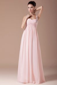 Blush Chiffon Bridesmaid Dresses