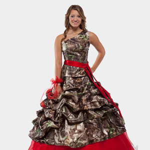 Bridesmaid Camo Dresses