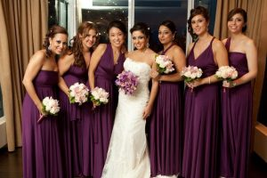 Bridesmaid Dress Plum