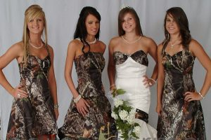 Bridesmaid Dresses Camo