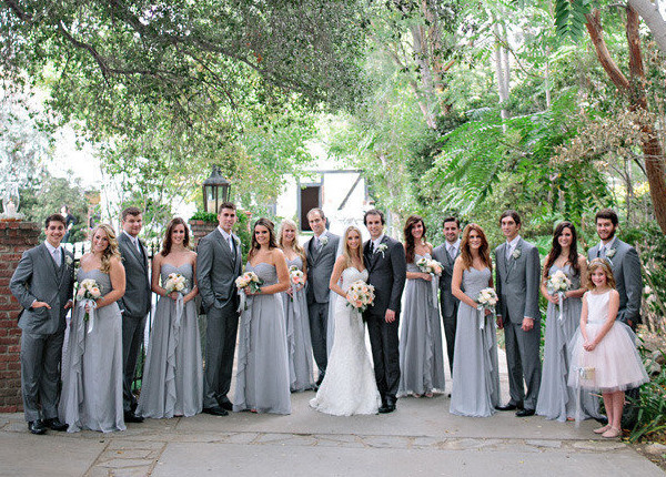 Bridesmaid Dresses Grey