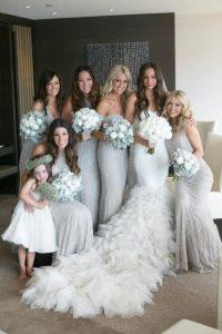 Bridesmaid Dresses Silver