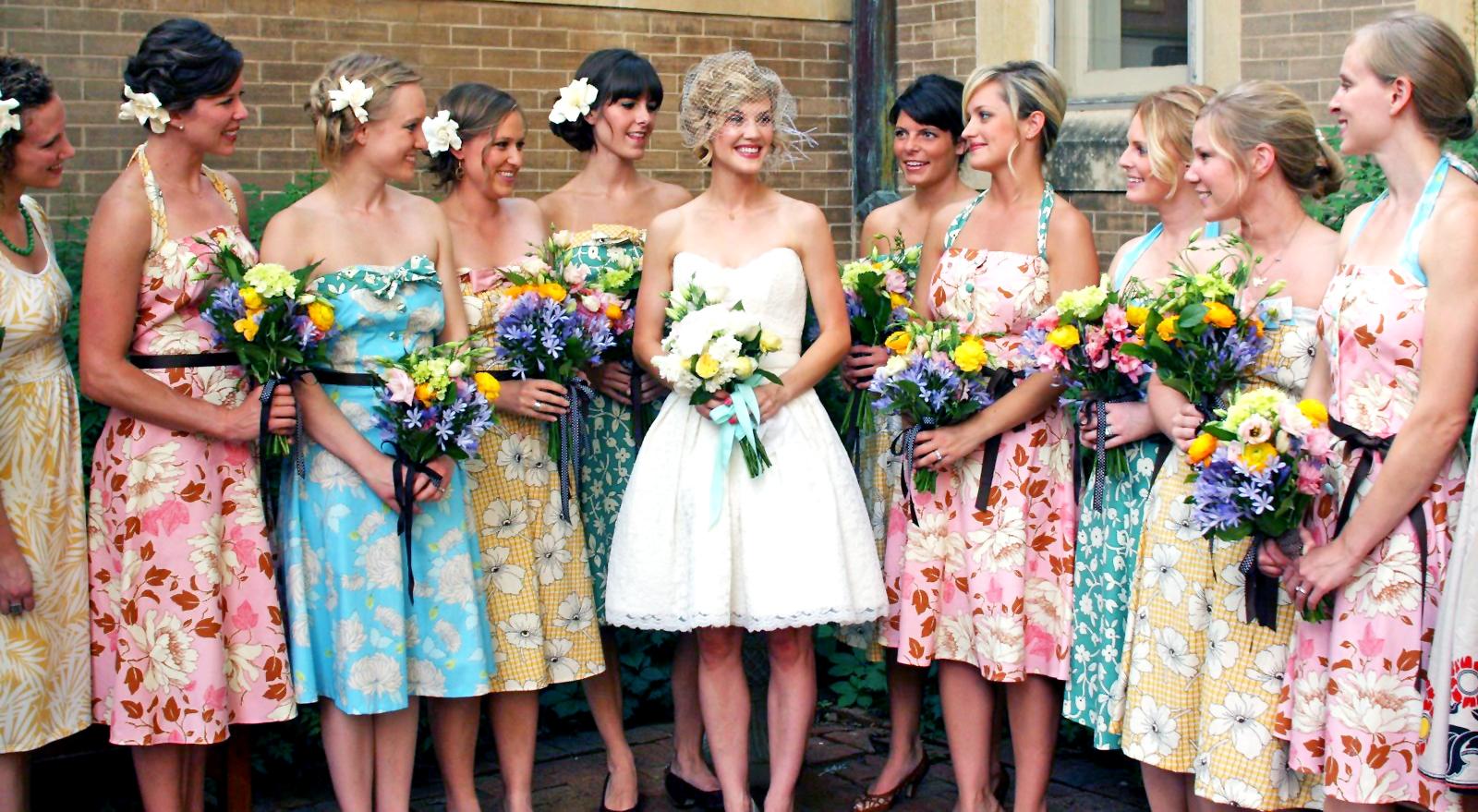 Vintage floral bridesmaid dresses cocktail dresses 2016 vintage floral bridesmaid dresses ombrellifo Gallery