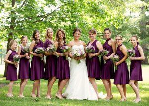 Bridesmaid Dresses in Plum