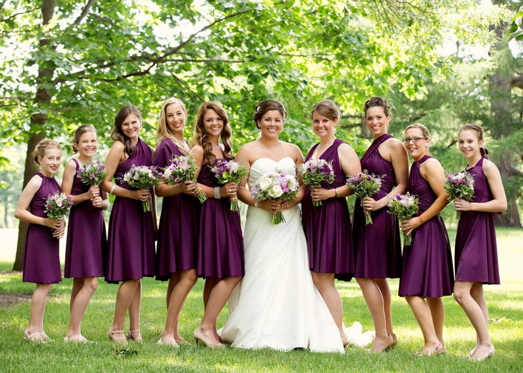 Bridesmaid Dresses In Plum