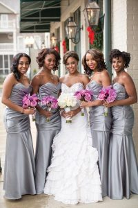 Bridesmaid Silver Dresses
