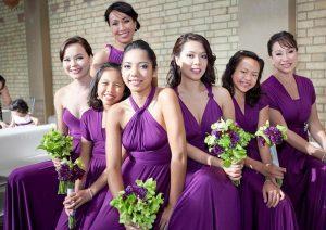Bridesmaids Dresses Plum