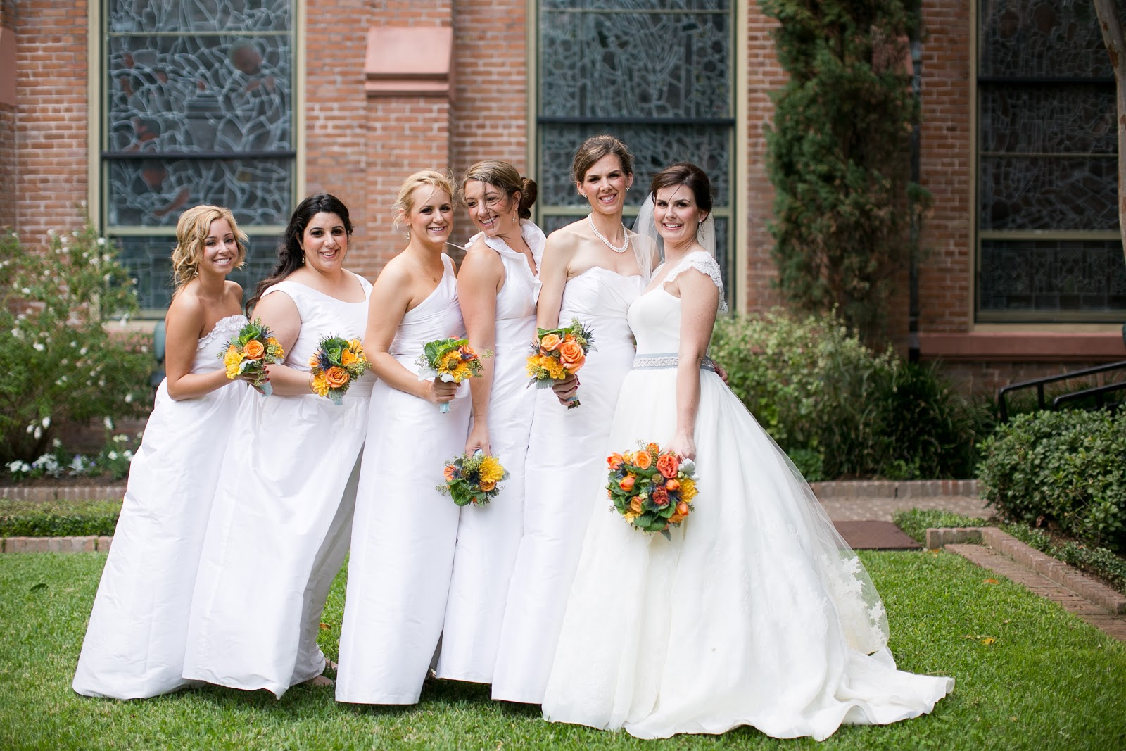 Bridesmaids Dresses White