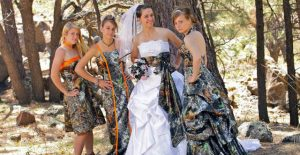 Camo Wedding Bridesmaid Dresses