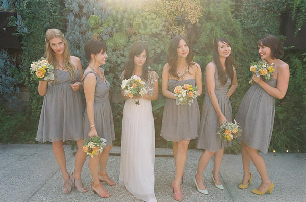 Grey Bridesmaid Dresses  Dressed Up Girl
