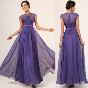 Chiffon Bridesmaid Dresses with Sleeves