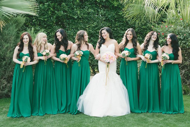 Green Bridesmaid Dresses - Dressed Up Girl
