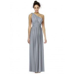Grey Chiffon Bridesmaid Dresses