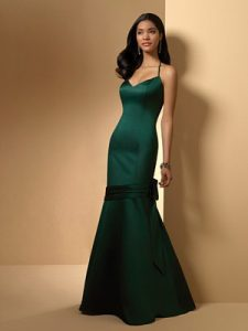 Hunter Green Bridesmaid Dress