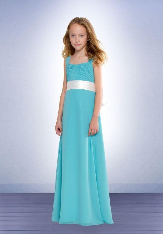 Navy Chiffon Junior Bridesmaid Dress - Wedding Dress Ideas