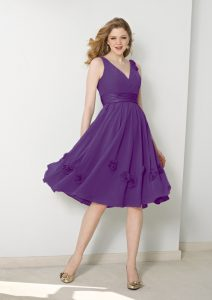 Knee Length Chiffon Bridesmaid Dresses