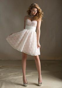 Lace Bridesmaid Dresses Short