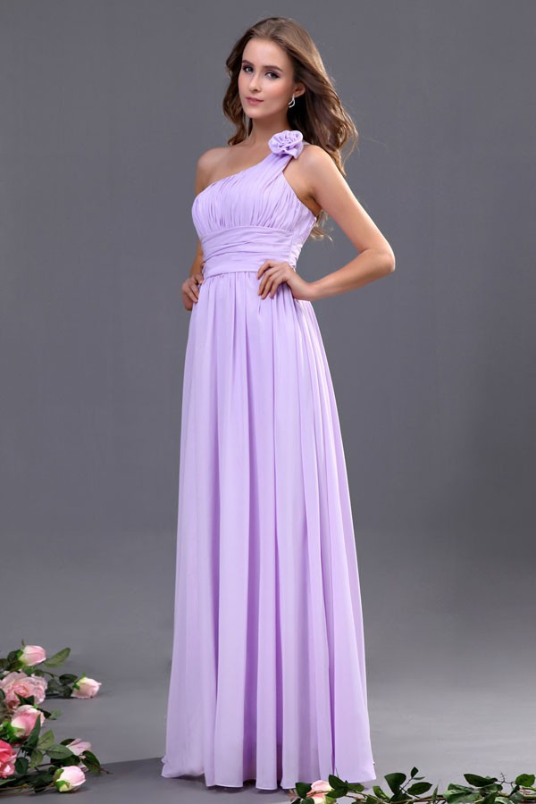 Medium Length Bridesmaid Dresses Light Purple S
