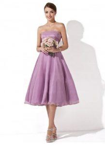 Lavender Bridesmaid Dresses Short