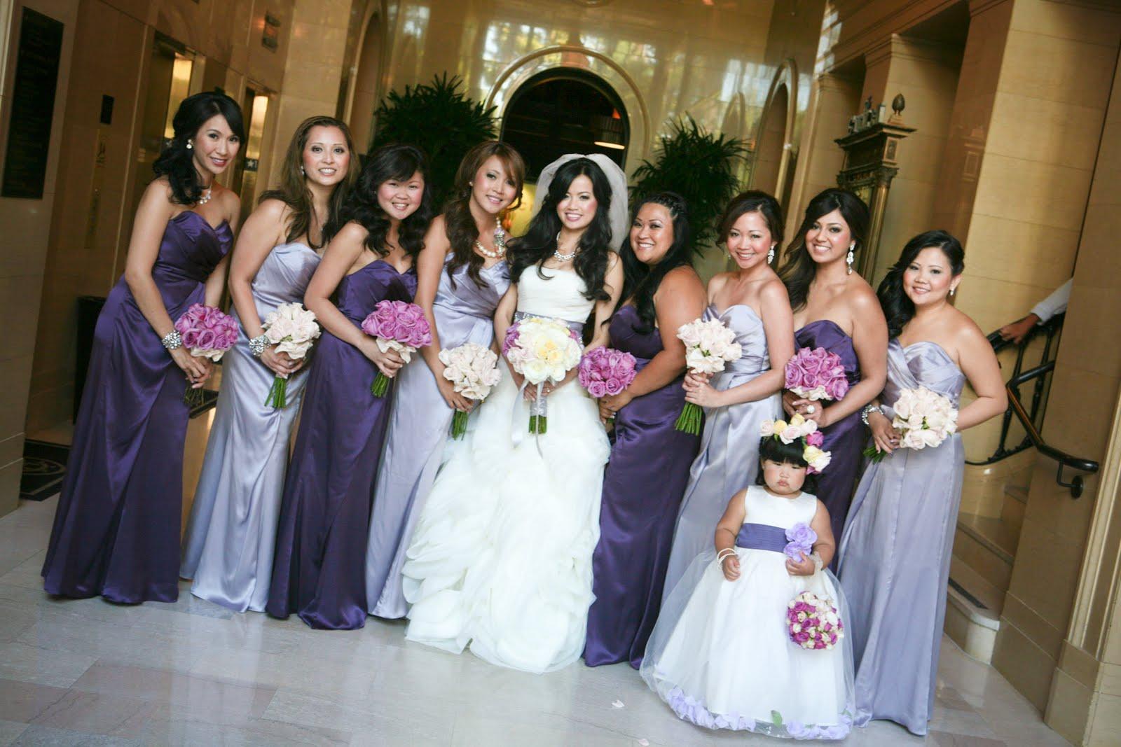 Lavender Long Bridesmaid Dresses