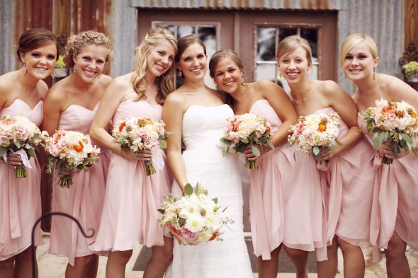 Light Peach Bridesmaid Dresses