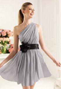 One Shoulder Bridesmaid Dresses Short
