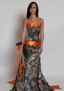 Orange Camo Bridesmaid Dresses
