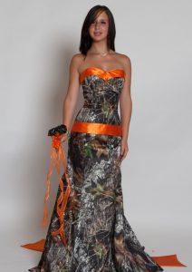 Orange Camo Bridesmaid Dresses