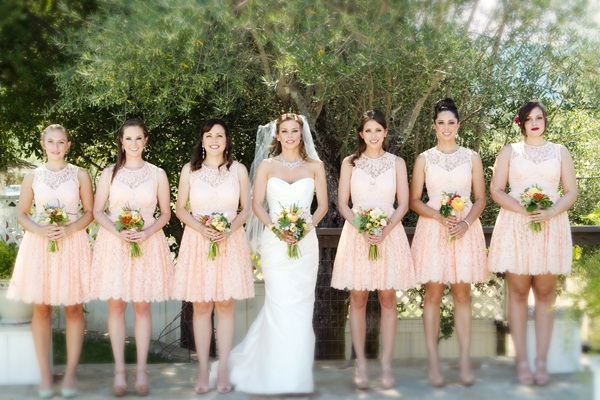Peach Bridesmaid Dresses Dressedupgirl Com