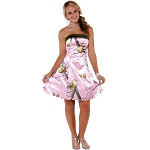 Pink Camo Bridesmaid Dresses