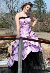 Pink Camo Bridesmaids Dresses