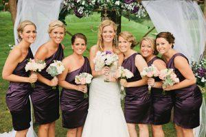 Plum Bridesmaids Dress