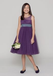 Plum Junior Bridesmaid Dresses