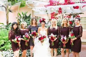 Plum Lace Bridesmaid Dresses
