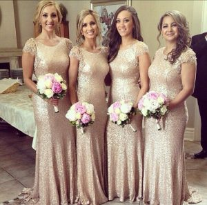 Sequin Bridesmaid Dresses Long