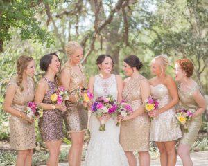 Sequin Bridesmaid Dresses Short